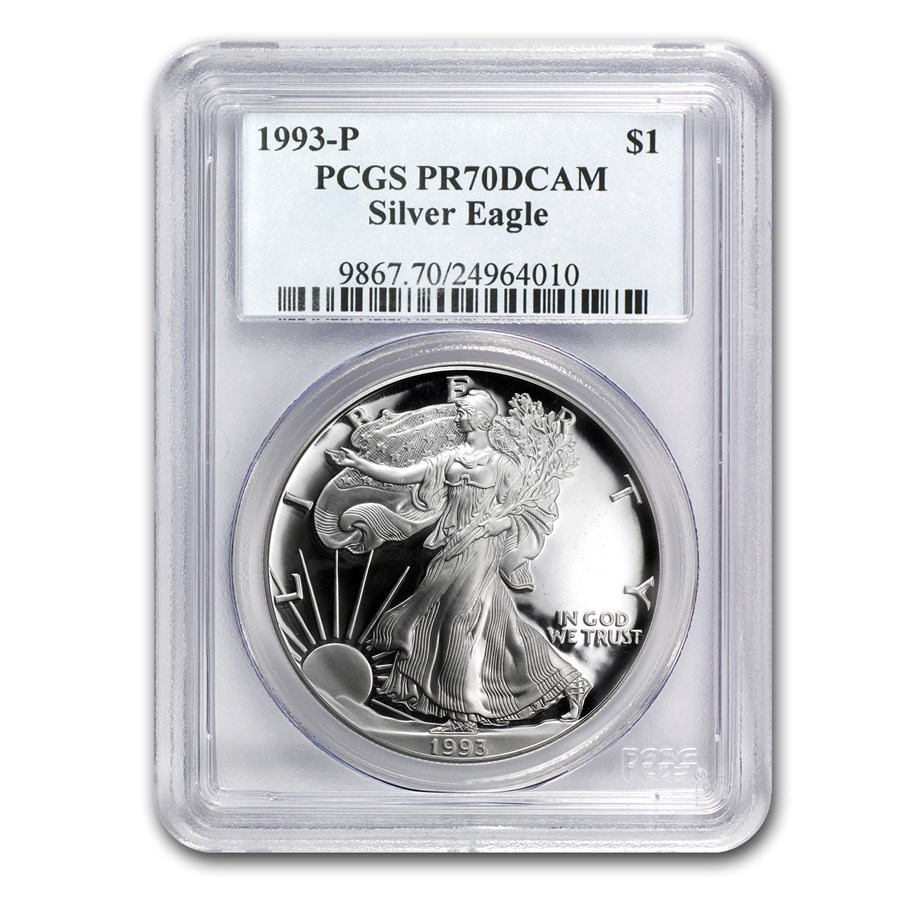 1993-P Proof American Silver Eagle PR-70 PCGS