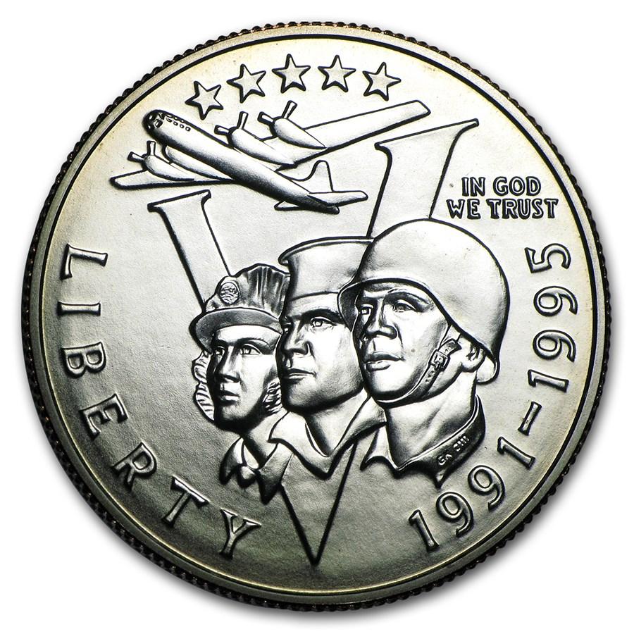 1993-P World War II 1/2 Dollar Clad Commem BU (Capsule only)