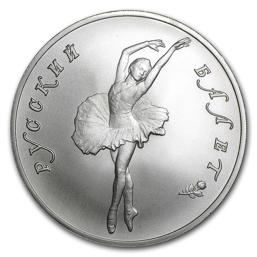 1993 Russia 1 oz Palladium Ballerina BU