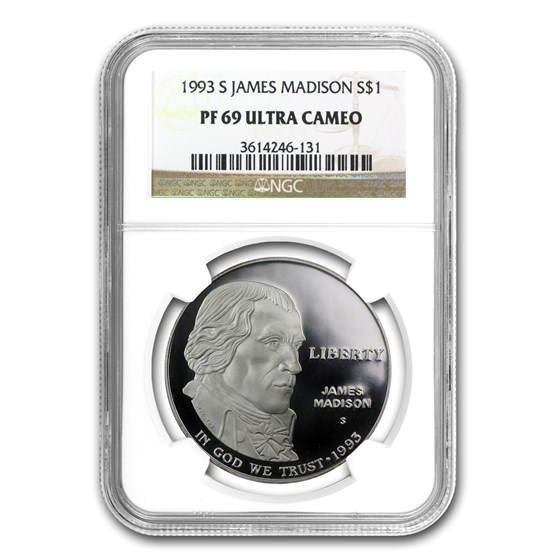1993-S Bill of Rights $1 Silver Commem PF-69 NGC