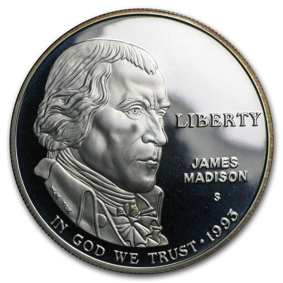 1993-S Bill of Rights $1 Silver Commem Proof (w/Box & COA)