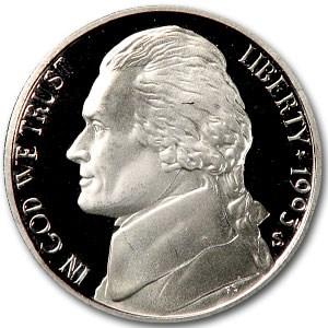 1993-S Jefferson Nickel Gem Proof