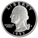 1993-S Silver Washington Quarter Gem Proof