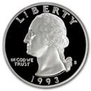 1993-S Silver Washington Quarter Gem Proof
