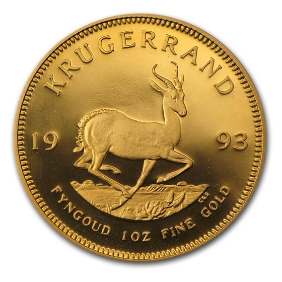 1993 South Africa 1 oz Proof Gold Krugerrand