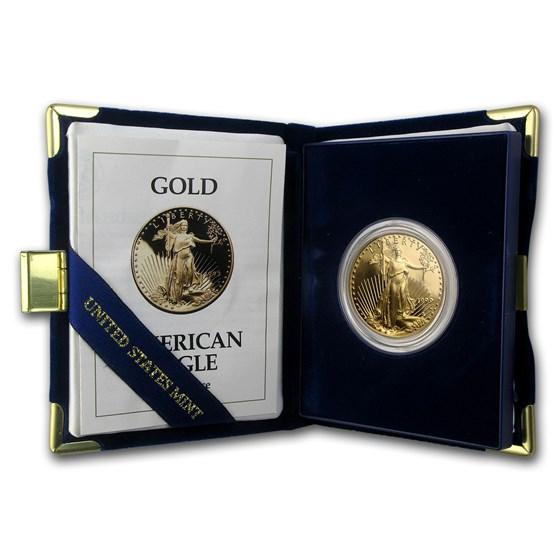 1993-W 1 oz Proof American Gold Eagle (w/Box & COA)