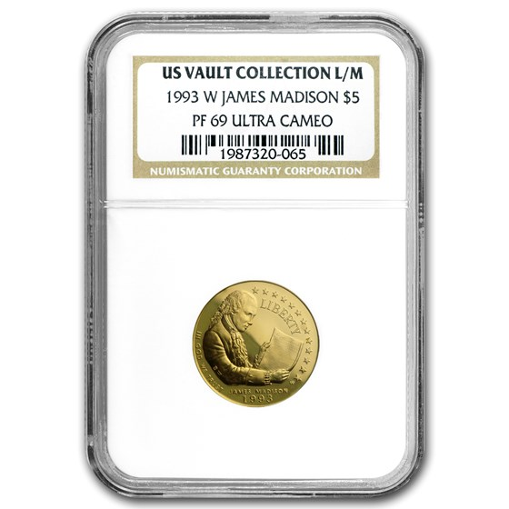1993-W Gold $5 Commem Bill of Rights PF-69 NGC