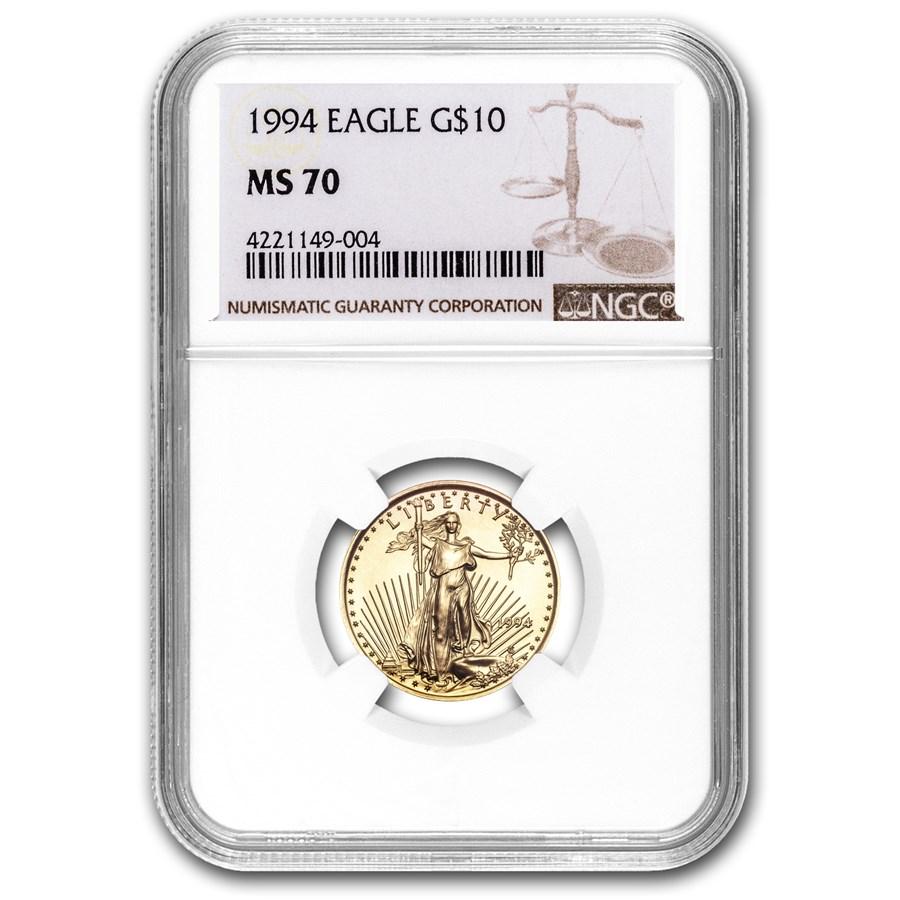 1994 1/4 oz American Gold Eagle MS-70 NGC