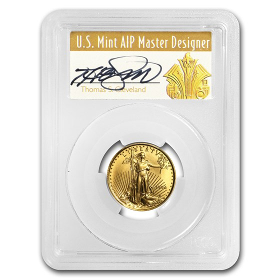 1994 1/4 oz Gold American Eagle MS-70 PCGS (Art Deco Label)