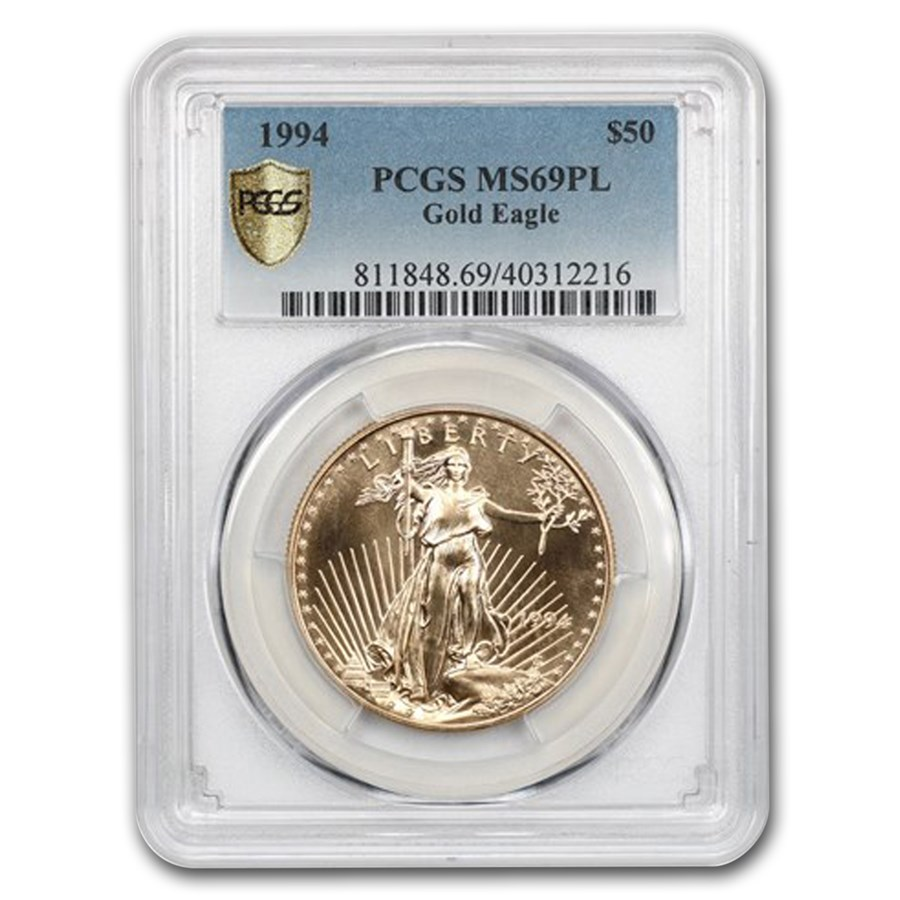 1994 1 oz American Gold Eagle MS-69 PL PCGS