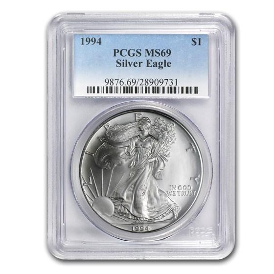1994 American Silver Eagle MS-69 PCGS