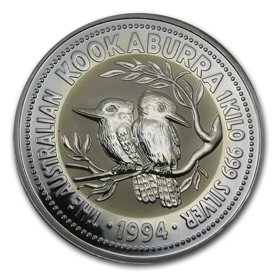 1994 Australia 1 kilo Silver Kookaburra BU