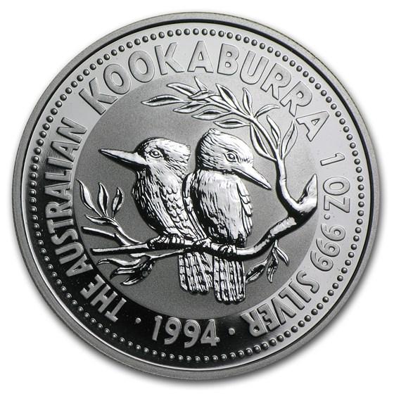 1994 Australia 1 oz Silver Kookaburra BU