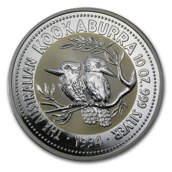 1994 Australia 10 oz Silver Kookaburra BU