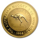 1994 Australia 2 oz Gold Nugget BU