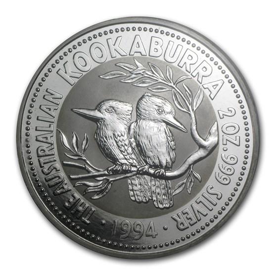 1994 Australia 2 oz Silver Kookaburra BU