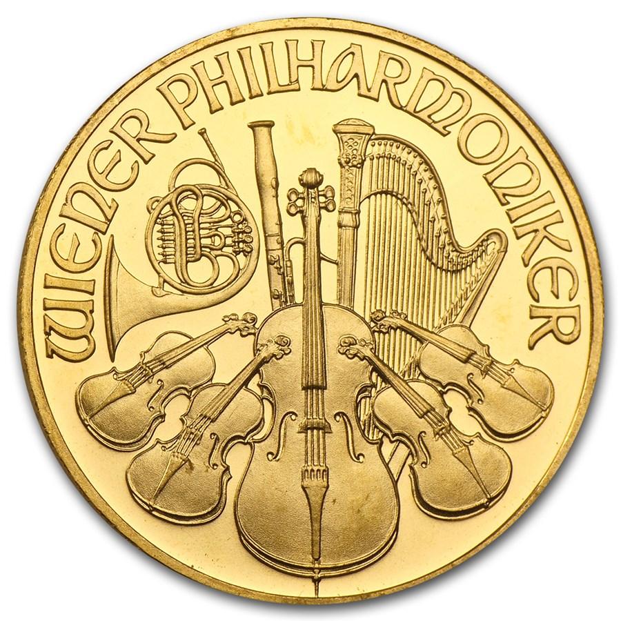 1994 Austria 1/2 oz Gold Philharmonic BU