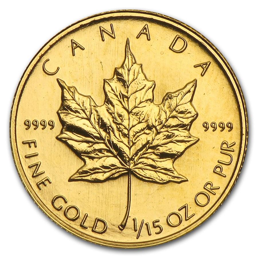1994 Canada 1/15 oz Gold Maple Leaf BU
