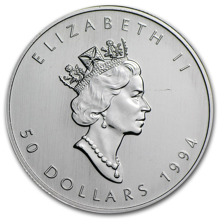 1994 Canada 1 oz Platinum Maple Leaf BU