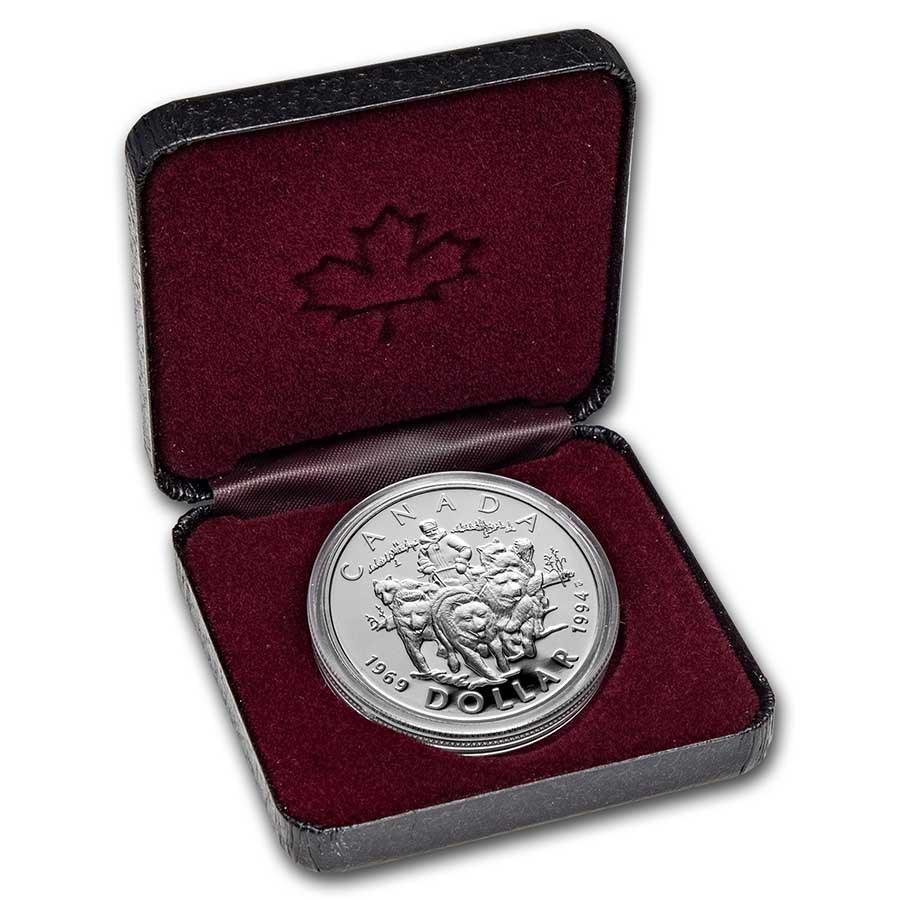1994 Canada Silver Dollar Proof (RCMP Sled-Dog Patrol w/OGP)