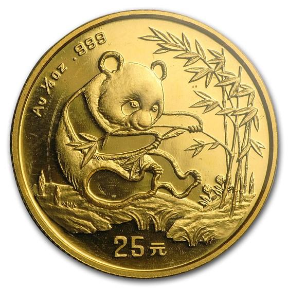 1994 China 1/4 oz Gold Panda Small Date BU (Sealed)