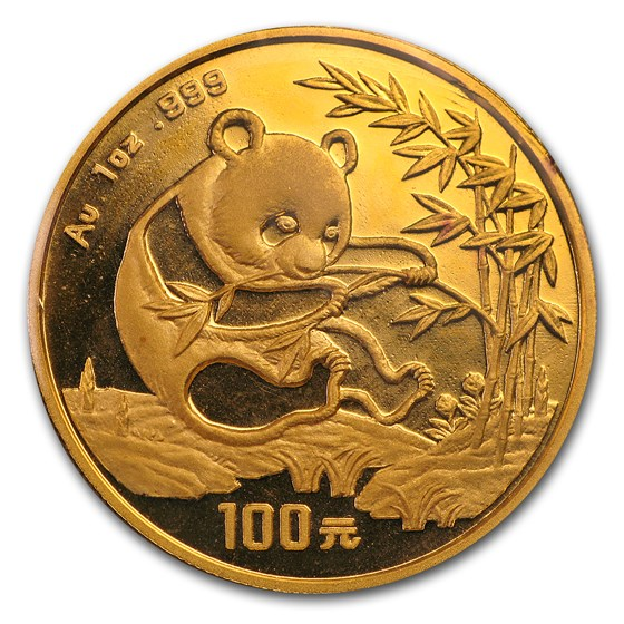 1994 China 1 oz Gold Panda Large Date BU (Sealed)