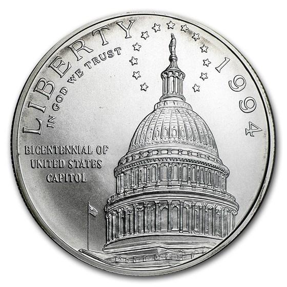 1994-D Capitol $1 Silver Commem BU (Capsule Only)