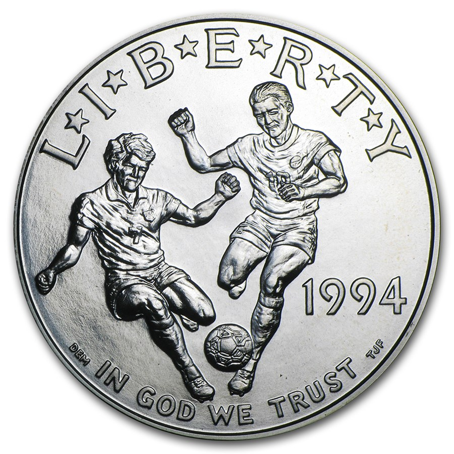 1994-D World Cup $1 Silver Commem BU (Capsule only)