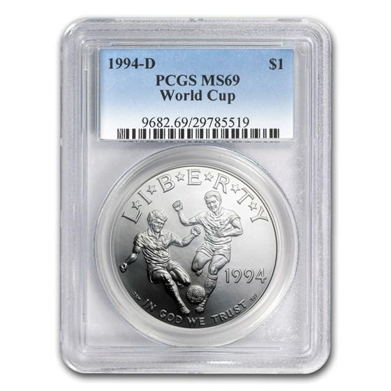 1994-D World Cup $1 Silver Commem MS-69 PCGS