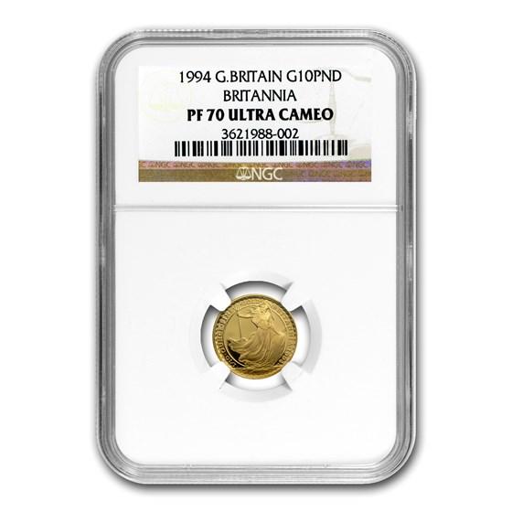 1994 Great Britain 1/10 oz Proof Gold Britannia PF-70 NGC