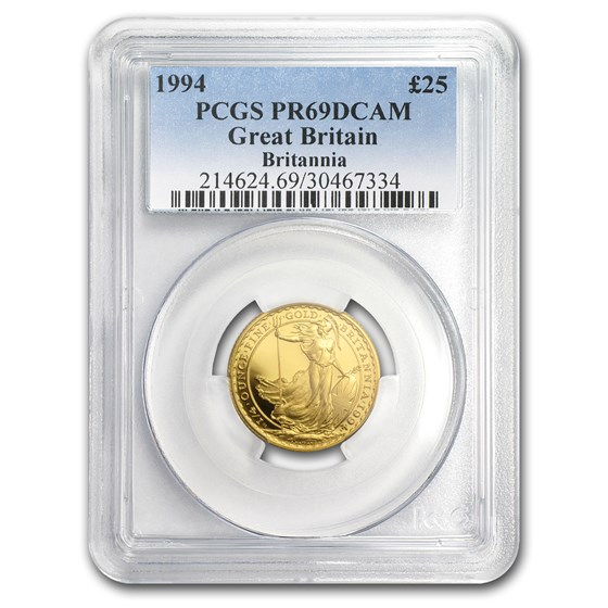1994 Great Britain 1/4 oz Proof Gold Britannia PR-69 PCGS
