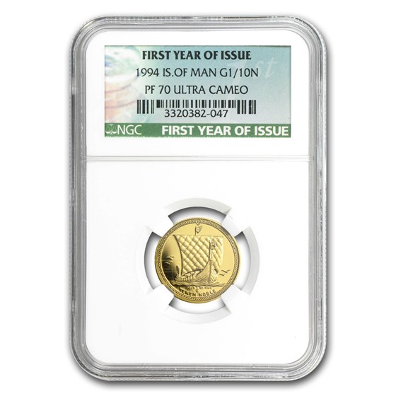 1994 Isle of Man 1/10 oz Proof Gold Noble PF-70 NGC