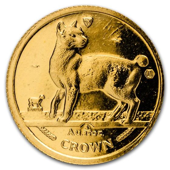 1994 Isle of Man 1/25 oz Gold Japanese Bobtail Cat BU