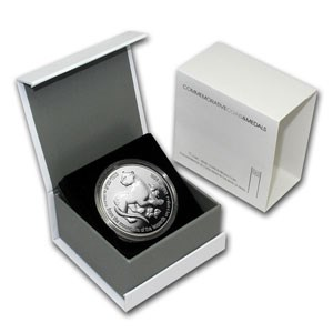1994 Israel Silver 2 NIS Leopard and Palm Tree Proof (w/Box)