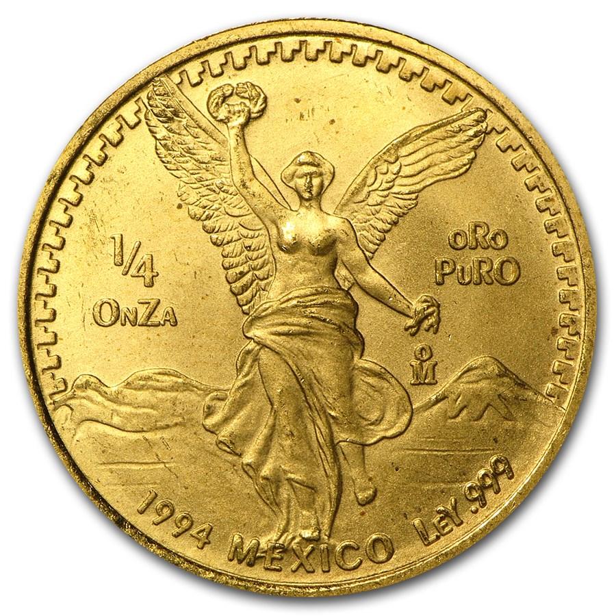 1994 Mexico 1/4 oz Gold Libertad BU