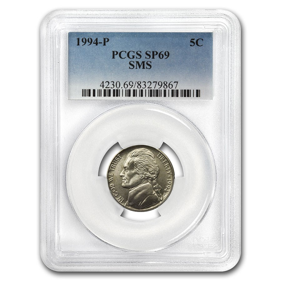 1994-P Jefferson Nickel Matte Finish SP-69 PCGS