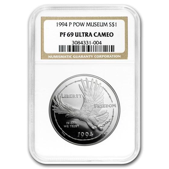 1994-P Prisoner of War $1 Silver Commem PF-69 NGC