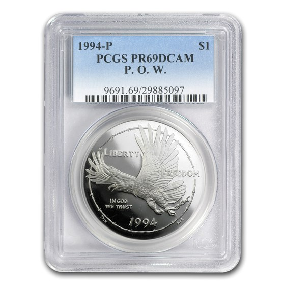 1994-P Prisoner of War $1 Silver Commem PR-69 PCGS