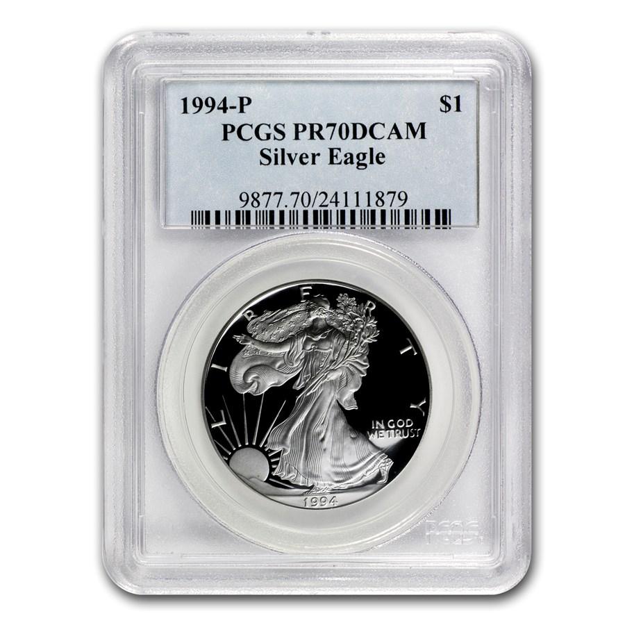 1994-P Proof American Silver Eagle PR-70 PCGS