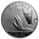 1994-P Vietnam Veterans Memorial $1 Silver Proof (Capsule only)
