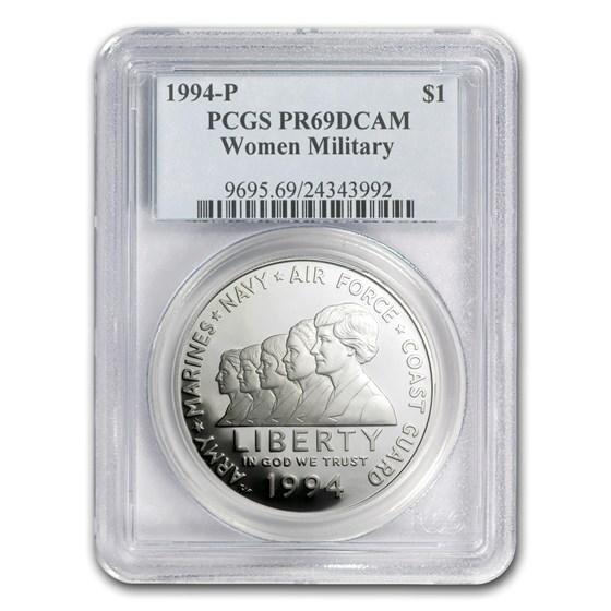 1994-P Women in Military $1 Silver Commem PR-69 PCGS