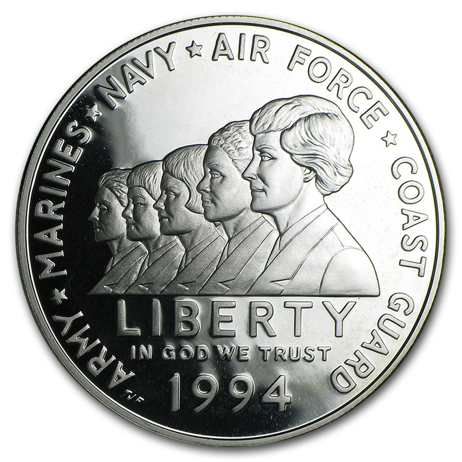 1994-P Women in Military $1 Silver Commem Proof (Capsule only)