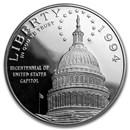 1994-S Capitol $1 Silver Commem Proof (w/Box & COA)