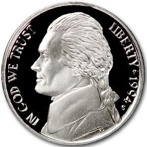 1994-S Jefferson Nickel Gem Proof