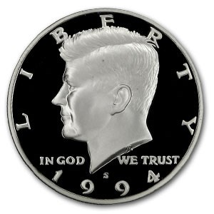 1994-S Silver Kennedy Half Dollar Gem Proof