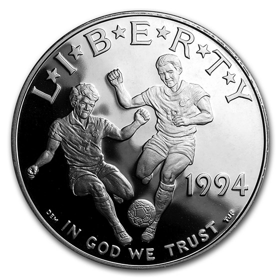 1994-S World Cup $1 Silver Commem Proof (w/Box & COA)