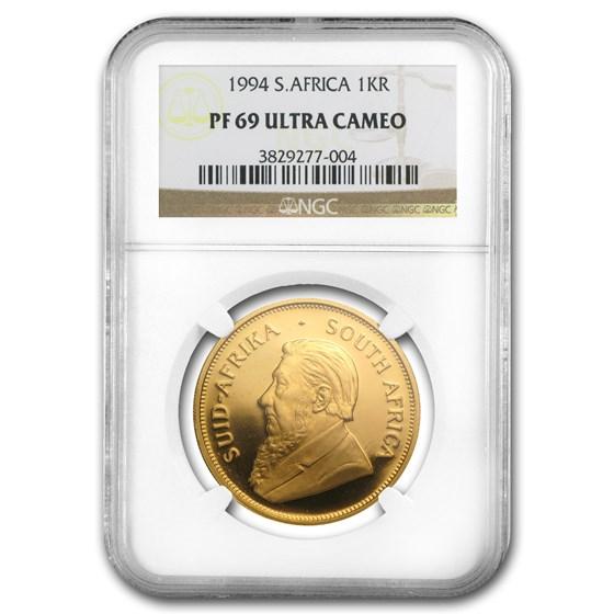 1994 South Africa 1 oz Gold Krugerrand PF-69 NGC