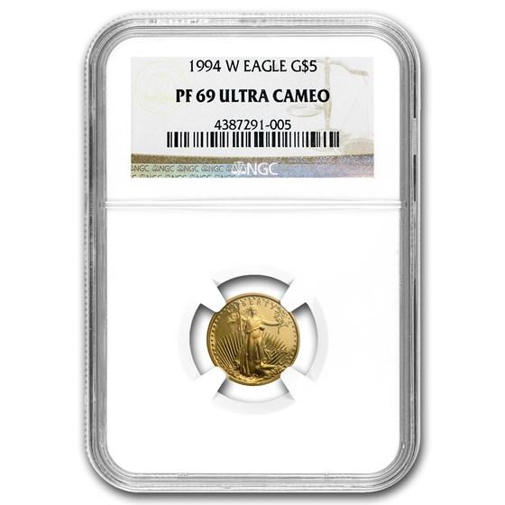 1994-W 1/10 oz Proof American Gold Eagle PF-69 UCAM NGC