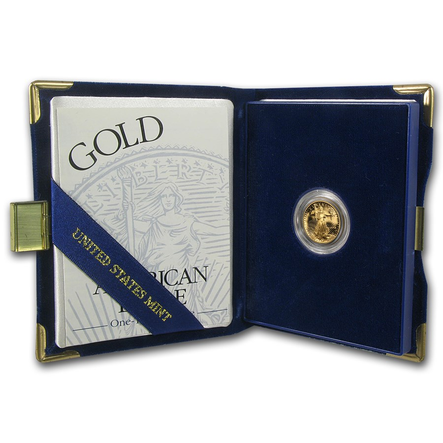1994-W 1/10 oz Proof American Gold Eagle (w/Box & COA)