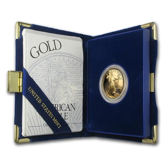 1994-W 1/2 oz Proof American Gold Eagle (w/Box & COA)
